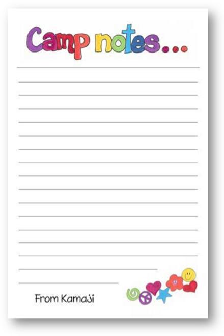 Doodle Camp Letter Sheets
