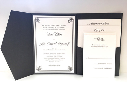 Lisa and Jon: Wedding Invitation