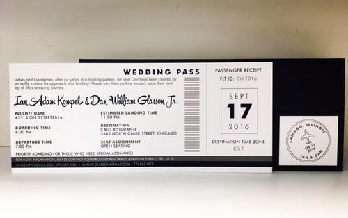 Ian and Dan: Wedding Invitation