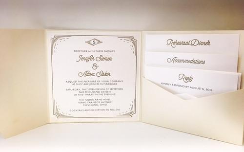 Jenny and Adam: Wedding Invitations