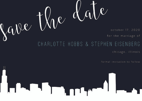 Elegant Skyline: Save The Date