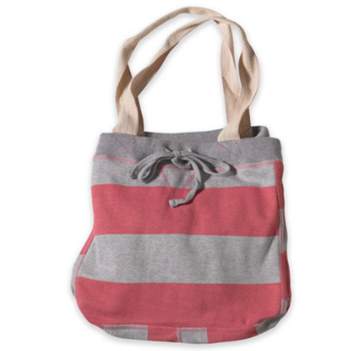 Pink Striped Sweatshirt Tote
