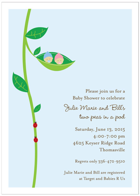 Two Peas in a Pod Invitation