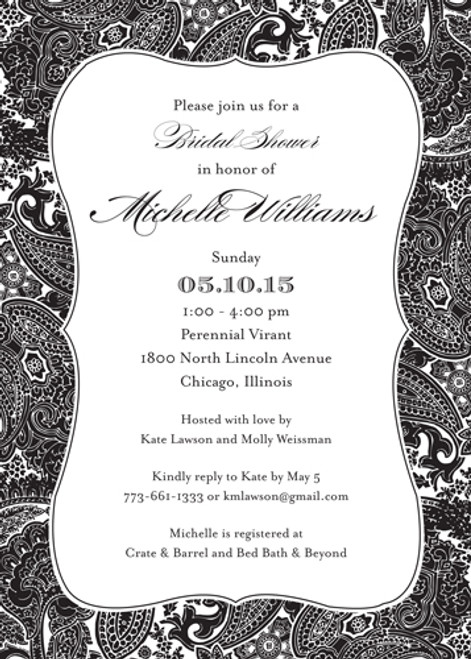 Posh Paisley Invitation
