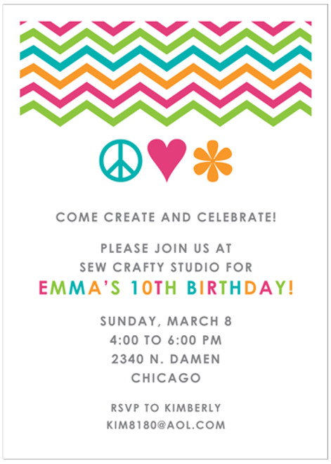Groovy Chevron Invitation