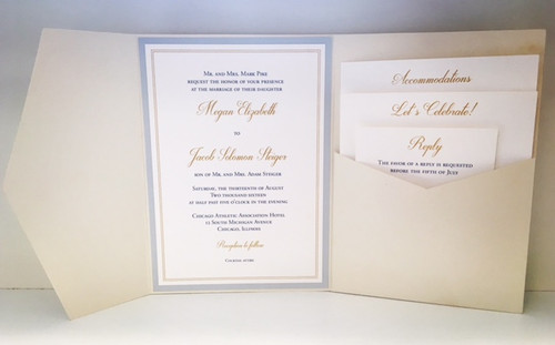 Megan and Jake: Wedding Invitation