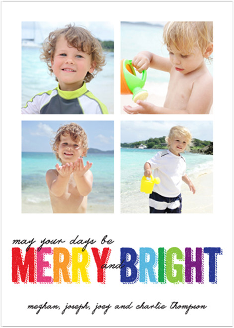 Merry and Colorful Holiday Card