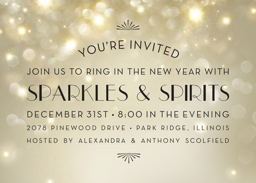 Sparkle Invitation