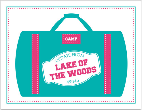 Teal Luggage Camp Folded Note