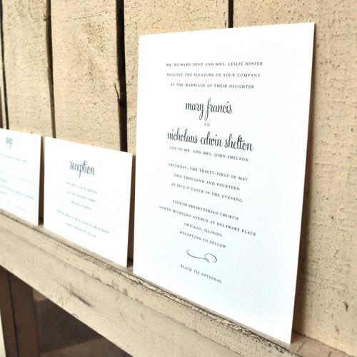 Mary and Nicholaus: Wedding Invitation