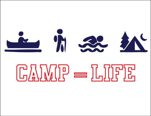 Camp Equals Life Postcard