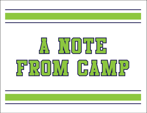 Blue Green Stripes Camp Postcard