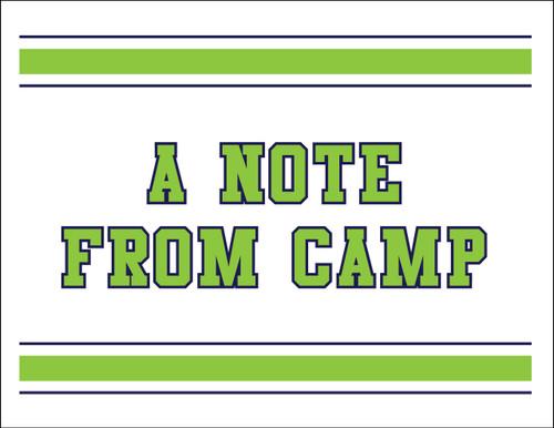 Blue Green Stripes Camp Postcard