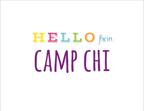 Hello From Camp Folded Note