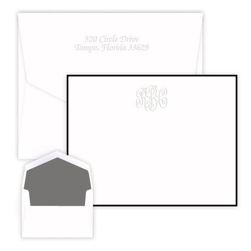 Embossed Delavan Monogram Card