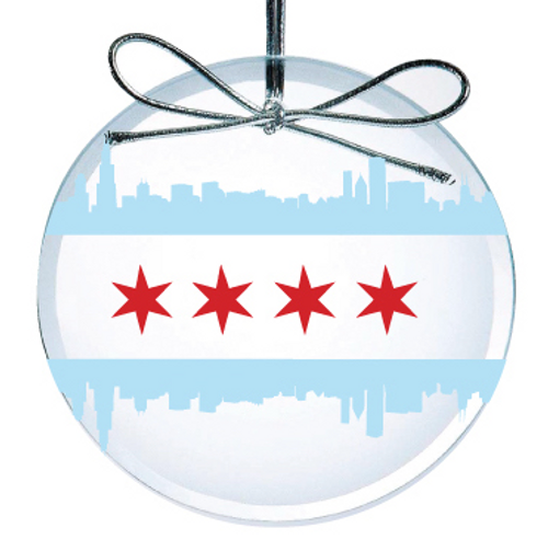 Chicago Flag Ornament