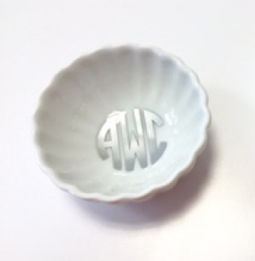 Scalloped Ceramic Ring Dish