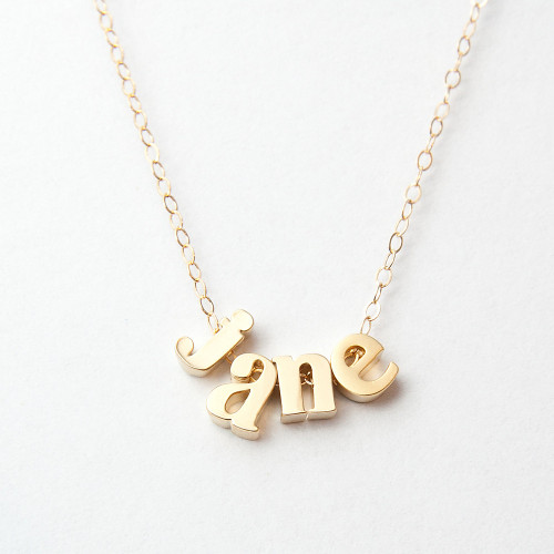 Lettered Name Necklace