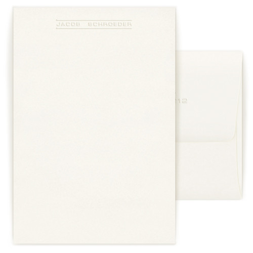 Embossed Cove Letter Sheets