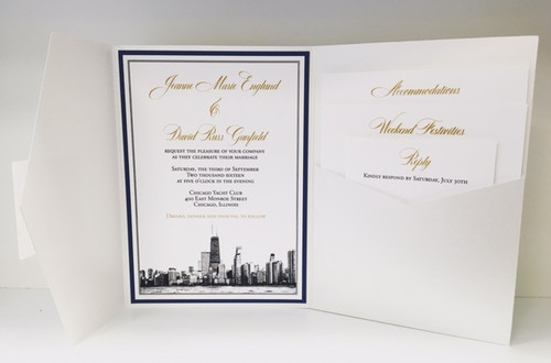 Jeanne and David: Wedding Invitation