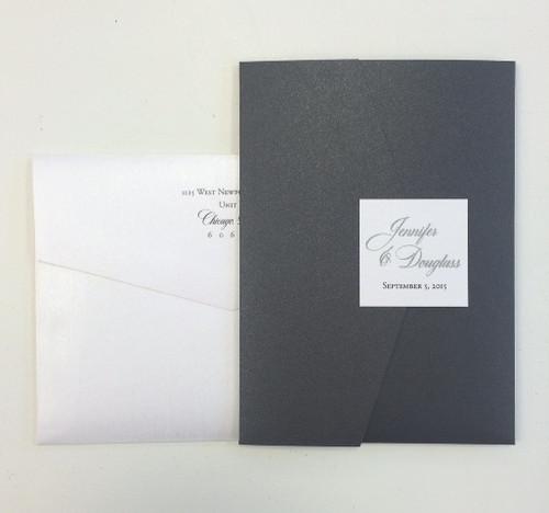 Jennifer and Douglass: Wedding Invitations
