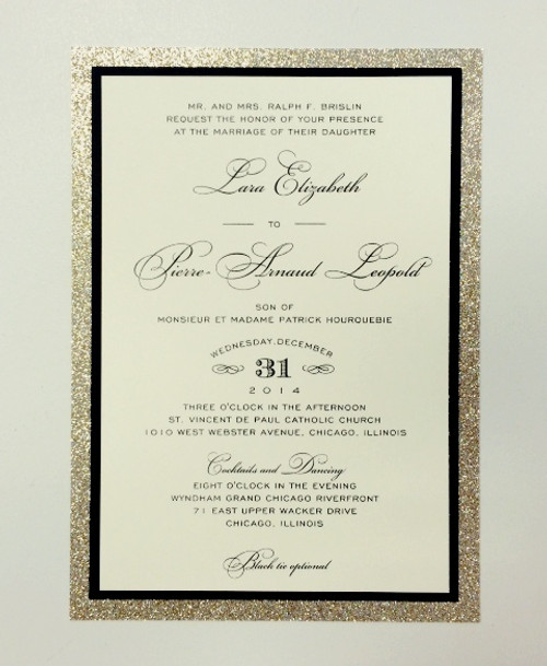 Lara and Pierre: Wedding Invitation