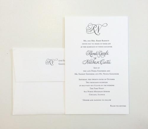 Randi and Nathan: Wedding Invitations