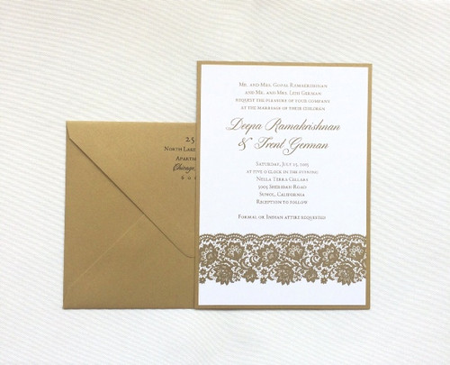 Deepa and Trent: Wedding Invitations