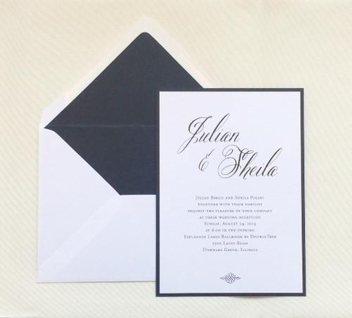 Sheila and Julian: Wedding Invitations