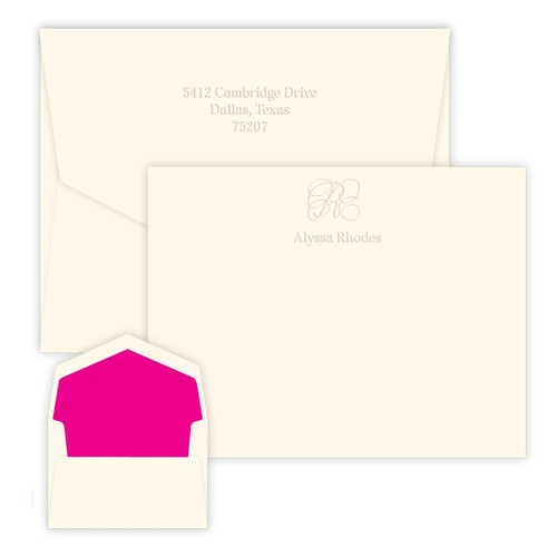 Embossed Capital Card