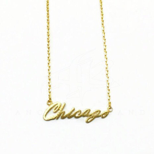 Chicago Script Necklace