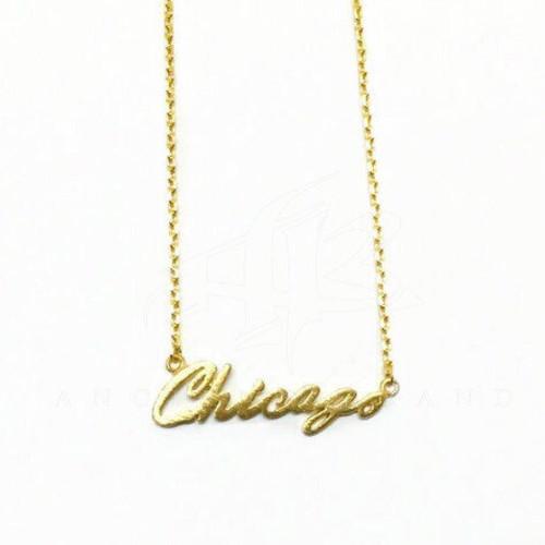 Chicago Script Necklace