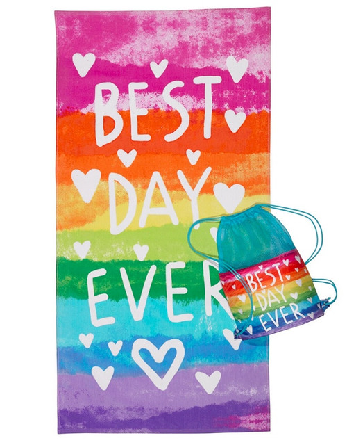 Best Day Ever Beach Towel and Bag