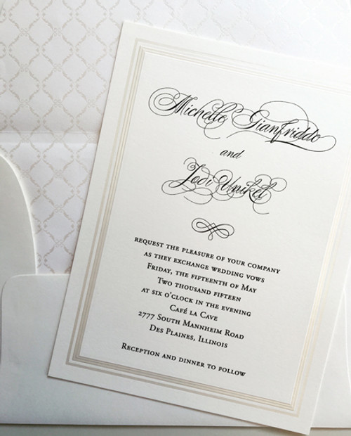 Michelle and Jodi: Wedding Invitation