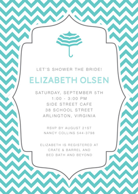 Chevron Showers Invitation