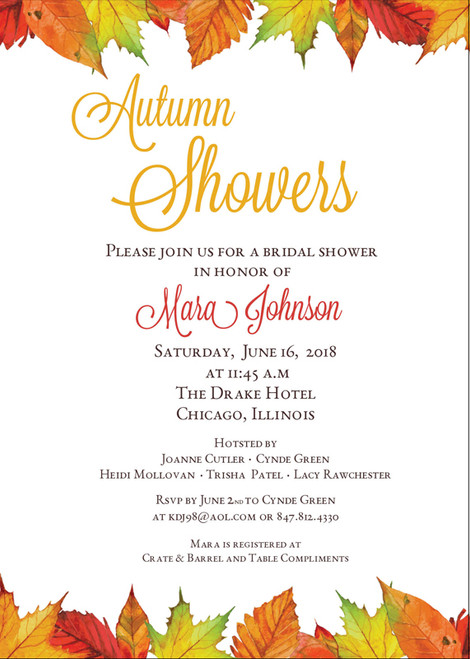 Autumn Showers Invitation
