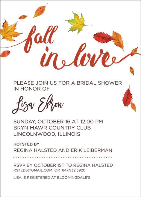 Fall In Love Invitation