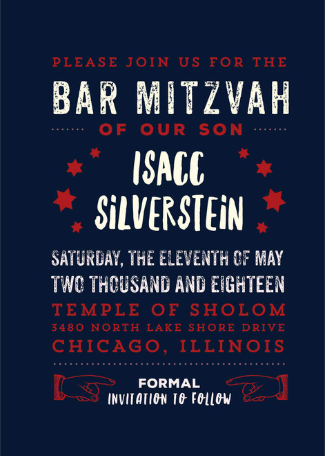 Typographic Chicago: Bar Mitzvah