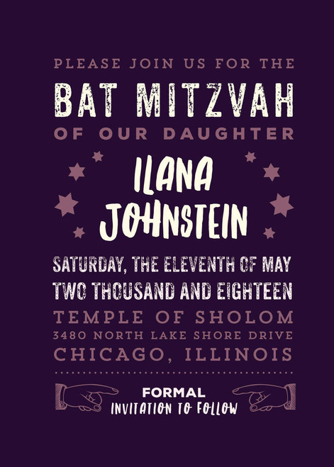 Typographic Chicago: Bat Mitzvah