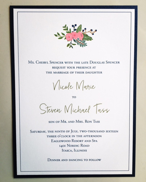 Nicole and Steven: Wedding Invitation
