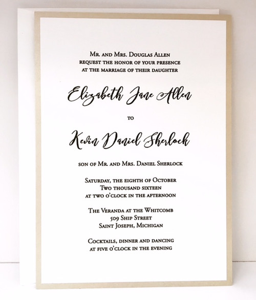 Liz and Kevin: Wedding Invitation