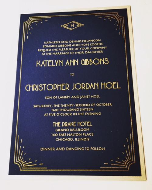 Katelyn and Chris: Wedding Invitation