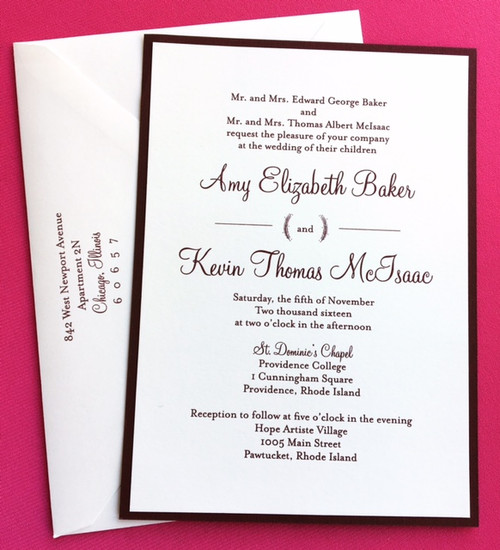 Amy and Kevin: Wedding Invitation