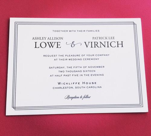 Ashley and Pat: Wedding Invitation