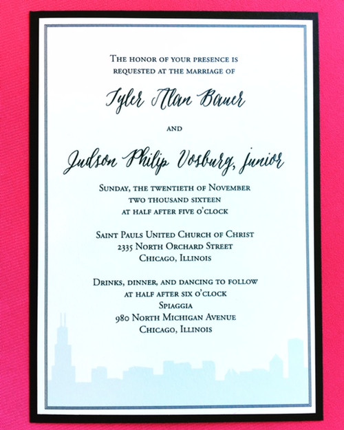 Tyler and Judson: Wedding Invitation