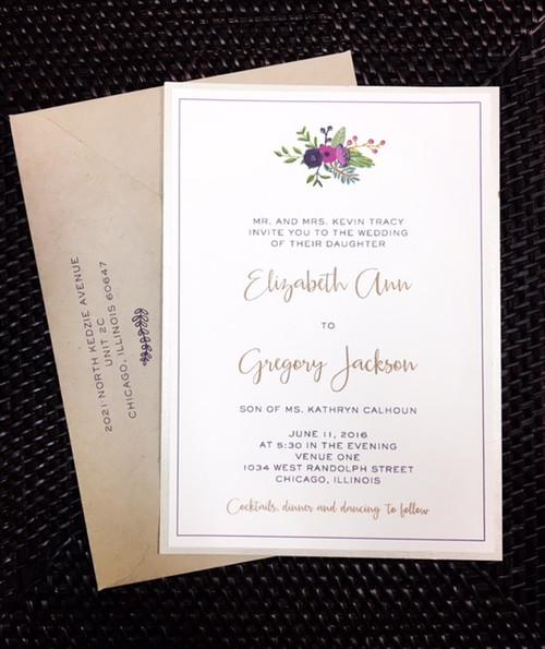 Liz and Greg: Wedding Invitation