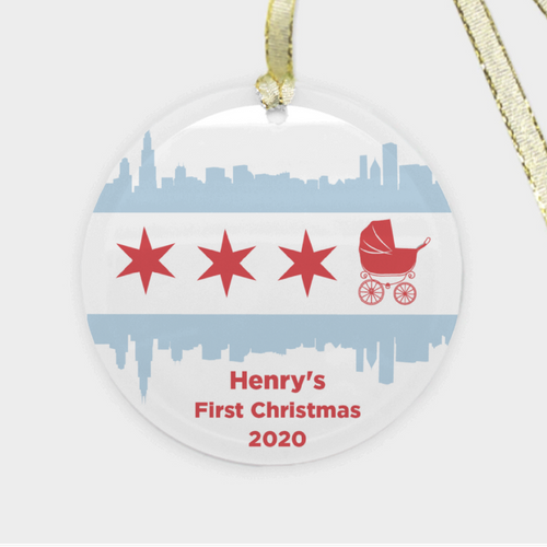 Chicago Baby Ornament
