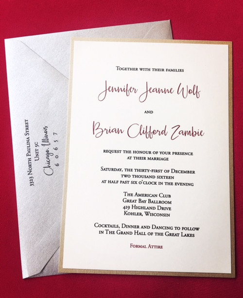 Jen and Brian: Wedding Invitation