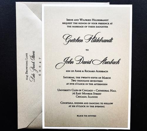 Gretchen and John: Wedding Invitation