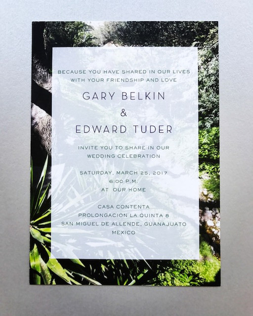 Ed and Gary: Wedding Invitation